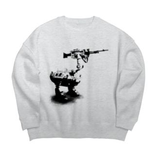 cassowary(ロゴなしモノクロロボットのみ) Big silhouette sweats