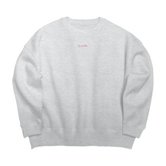 ≒mubu ピンクロゴ Big silhouette sweats