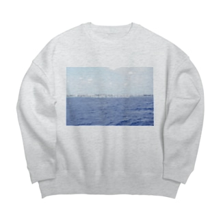 DEEP BLUE OCEAN  Big silhouette sweats