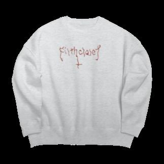 Filth_ClosetのSimple as FxxK Logo Big silhouette sweats