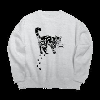 猫と釣り人のCAT_13_1W Big silhouette sweats