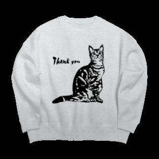 猫と釣り人のCAT_9_1KW Big silhouette sweats