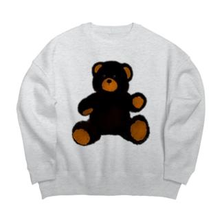 陽気なクロクマさん Big silhouette sweats