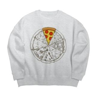 ピザシリーズ Big silhouette sweats