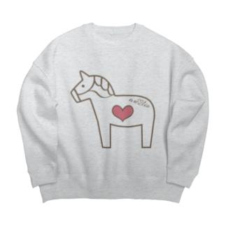 馬が大好き! Big silhouette sweats