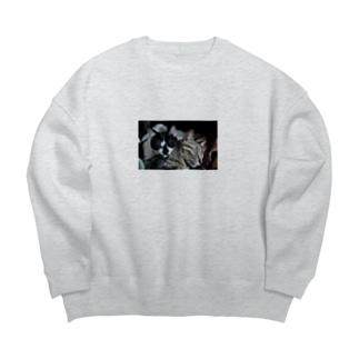 にゃち&ぼち Big Crew Neck Sweatshirt