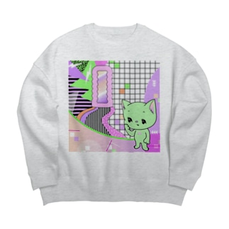 What is cute? メロンクリーム猫さん Big silhouette sweats