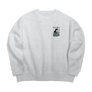眠杉謙信 Big Crew Neck Sweatshirt