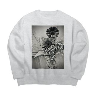 モノクロ Big Crew Neck Sweatshirt