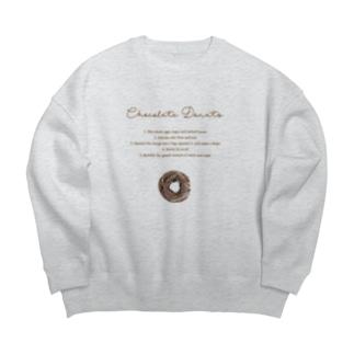 チョコレートドーナツ Big silhouette sweats