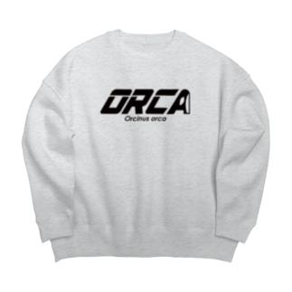 ORCA ロゴ Big silhouette sweats
