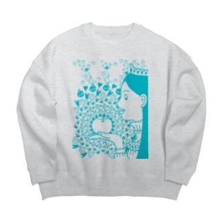 りんご姫 Big Crew Neck Sweatshirt