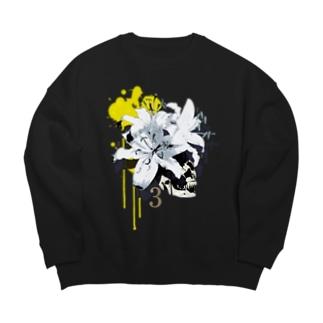 Lily Skull [Yellow] Big silhouette sweats