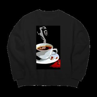 猫神楽セバルshop のコーヒー Big silhouette sweats