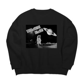 モノクロスペースキャット Big silhouette sweats
