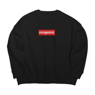 nicepanic ロゴ BIGシルエット スウェット Big silhouette sweats