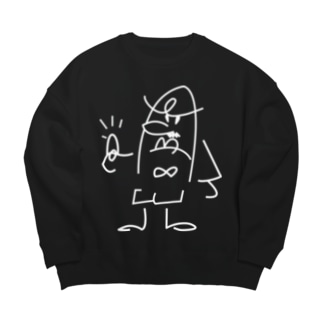 ゆび刑事 Big silhouette sweats