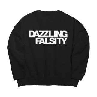 DAZZLING FALSITY タイポグラフィ Big silhouette sweats
