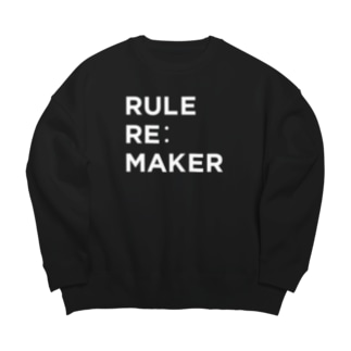 RULE RE:MAKER(白ロゴ) Big silhouette sweats