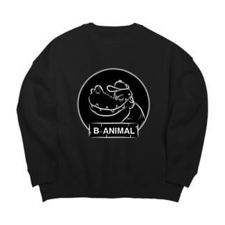 B-ANIMAL ワニ Big silhouette sweats