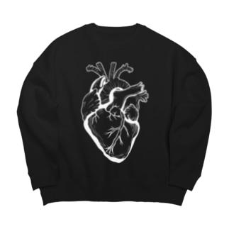 心臓と背骨 Big silhouette sweats