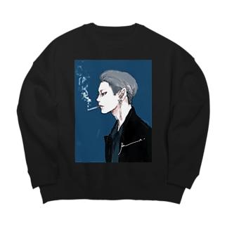 男心 blue Big silhouette sweats