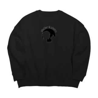 oshima Black Big silhouette sweats