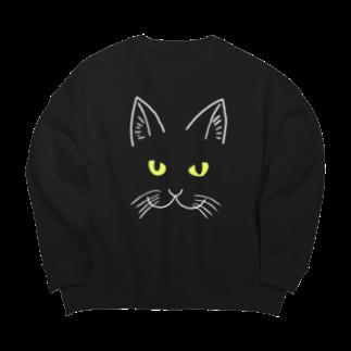 渡邊野乃香のお店の黒猫ジジ 全面 Big silhouette sweats
