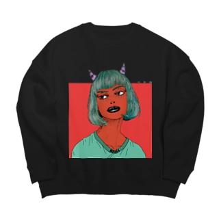 Devil Girl  ビックシルエットスウェット Big Crew Neck Sweatshirt