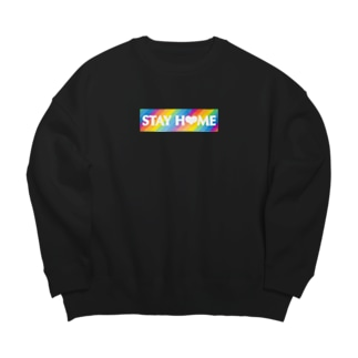 STAY H❤︎ME レインボーボックス Big silhouette sweats
