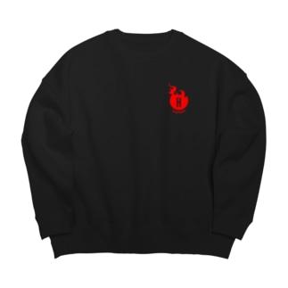 かっこいいホットパワーズの方(改)RED Big silhouette sweats