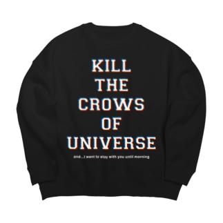 KILL the CROWS of UNIVERSE Big silhouette sweats