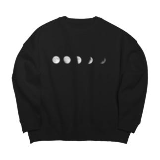いろいろな月 Big Crew Neck Sweatshirt