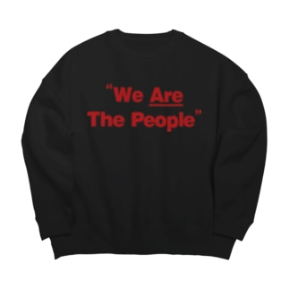 we are the people Big silhouette sweats