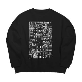 どっかの国の住宅地(mono) Big silhouette sweats