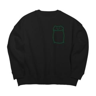 緑のしらくま Big silhouette sweats