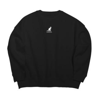 KANGOK-監獄-WHITE Big silhouette sweats