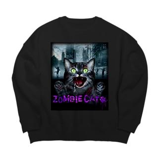 ZOMBIE CAT violet Big silhouette sweats