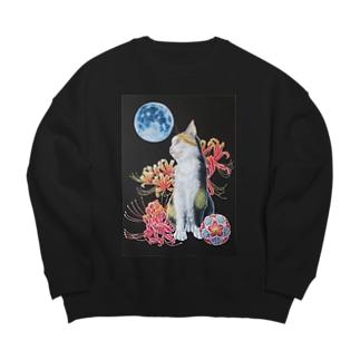 Atelier Heureuxの猫と曼珠沙華 Big silhouette sweats