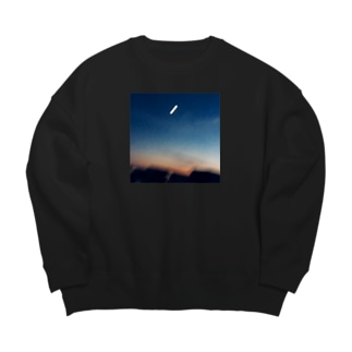 Evening sky with moon Big silhouette sweats