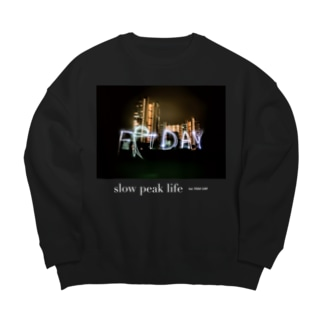 slow peak life 002 #BK Big silhouette sweats
