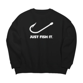 JUST FISH IT (白) Big silhouette sweats