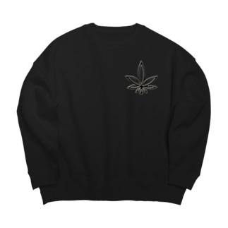 HIGHER original ギザ葉ロゴ Big silhouette sweats
