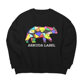 ARKUDA LABEL 白文字 Big silhouette sweats