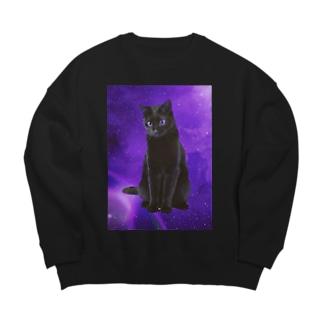 宇宙猫 Big silhouette sweats