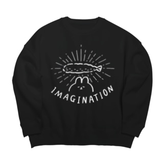 ふるえるとりのイマジネーション Big silhouette sweats
