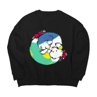 mya-mya=MIYA JUNKO's shop 02のクマとクマでぐるぐる Big silhouette sweats