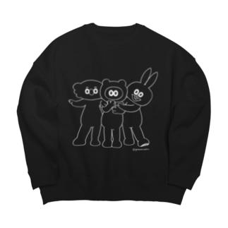 イケメンたぬフレ・線画 Big silhouette sweats