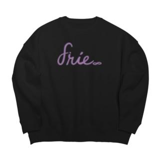 purple logo Big Crew Neck Sweatshirt