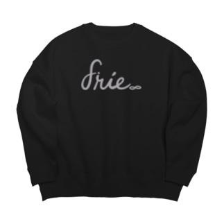 gray logo Big Crew Neck Sweatshirt